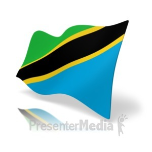 ID# 20602 - Flag Tanzania - Presentation Clipart