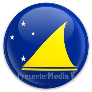 ID# 20607 - Flag Tokelau Button - Presentation Clipart