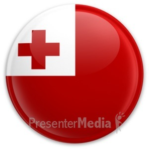ID# 20608 - Flag Tonga Button - Presentation Clipart