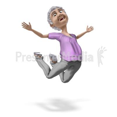 Bernice Jump For Joy PowerPoint Clip Art