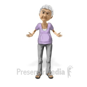 ID# 20620 - Bernice Puzzled Question - Presentation Clipart