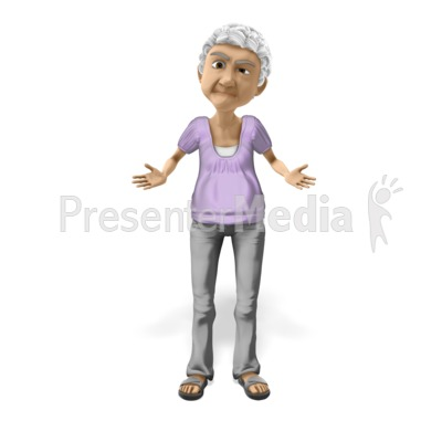 Bernice Puzzled Question PowerPoint Clip Art