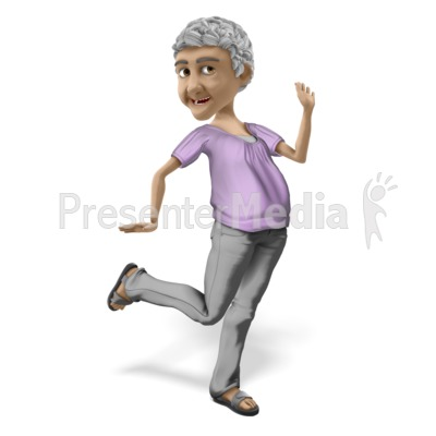 Bernice Super Happy PowerPoint Clip Art