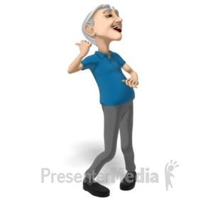 ID# 20635 - Bert Dancing Solo - Presentation Clipart