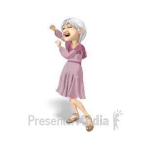 ID# 20636 - Martha Dancing Solo - Presentation Clipart