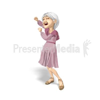 Martha Dancing Solo PowerPoint Clip Art