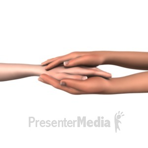 ID# 20644 - Hands Showing Compassion - Presentation Clipart