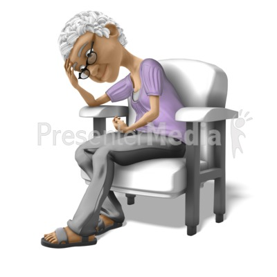 Bernice Sad Chair PowerPoint Clip Art