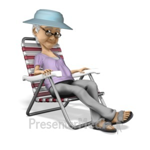 ID# 20651 - Bernice Relax Vacation - Presentation Clipart