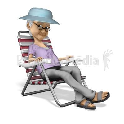 Bernice Relax Vacation PowerPoint Clip Art