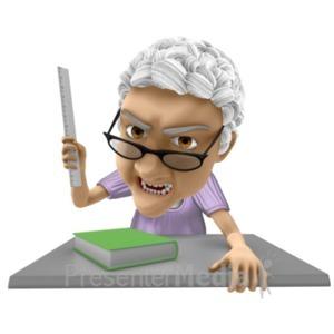 ID# 20656 - Bernice Teacher Angry - Presentation Clipart