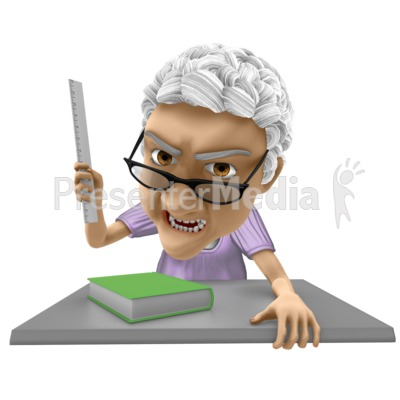 Bernice Teacher Angry PowerPoint Clip Art