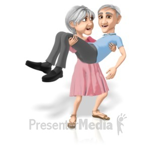 ID# 20682 - Martha Carrying Bert - Presentation Clipart