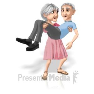 ID# 20682 - Martha Carrying Bert - Presentation Clipart