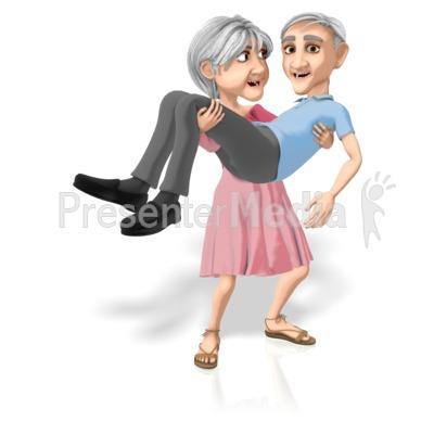 Martha Carrying Bert PowerPoint Clip Art