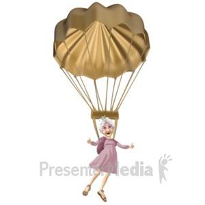 ID# 20684 - Martha Golden Parachute - Presentation Clipart