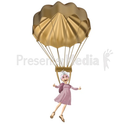 Martha Golden Parachute PowerPoint Clip Art