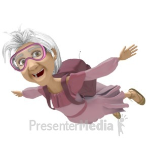 ID# 20686 - Martha Skydiving - Presentation Clipart