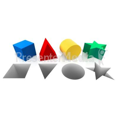 Shapes Corresponding Hole PowerPoint Clip Art