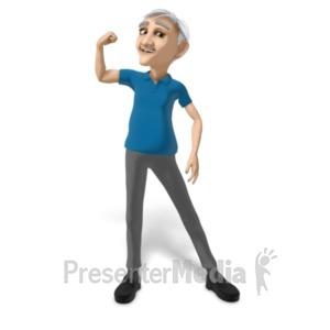 ID# 20696 - Bert Flexing - Presentation Clipart