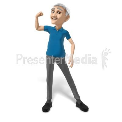 Bert Flexing PowerPoint Clip Art