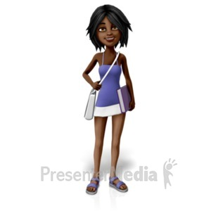 ID# 20702 - Jada Carrying Bag Education - Presentation Clipart