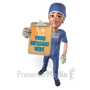 ID# 20731 - Clipboard Male Nurse Custom - Presentation Clipart