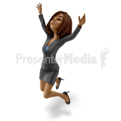 Talia Jumping Celebration PowerPoint Clip Art