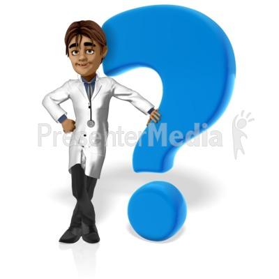 Doctor Simon Question Mark PowerPoint Clip Art
