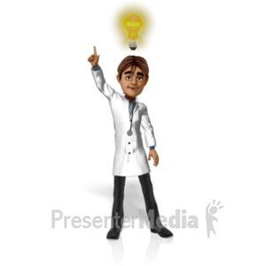 ID# 20763 - Doctor Simon Light Bulb - Presentation Clipart