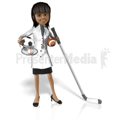 Doctor Kim Sports PowerPoint Clip Art