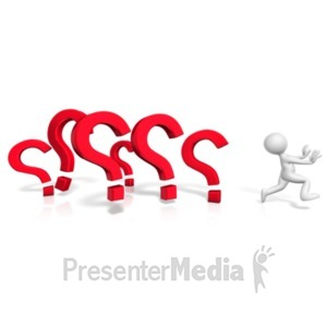 ID# 20773 - Running From The Questions - Presentation Clipart