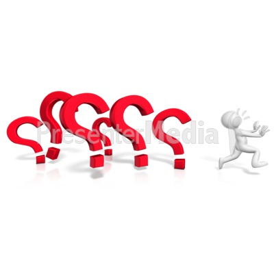 Running From The Questions PowerPoint Clip Art