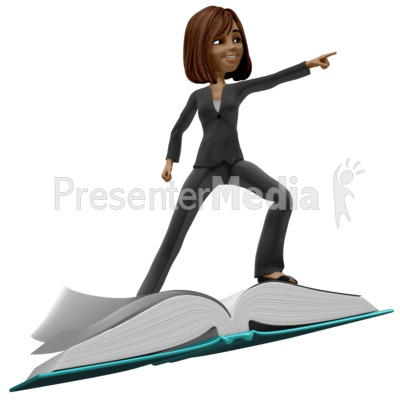 Talia Riding On Book PowerPoint Clip Art