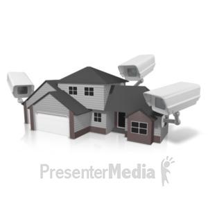 ID# 20855 - Security House Surveillance - Presentation Clipart