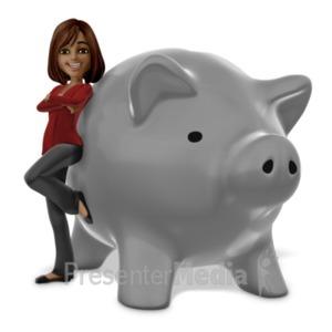 ID# 20873 - Talia Piggy Bank - Presentation Clipart
