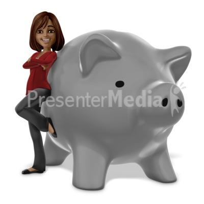 Talia Piggy Bank PowerPoint Clip Art