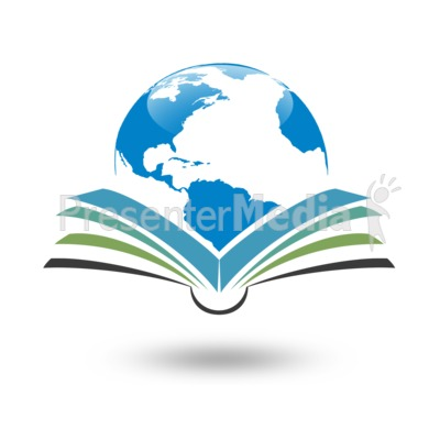 Reading Global Planet PowerPoint Clip Art