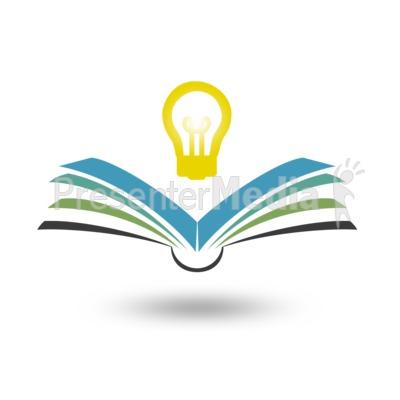 Reading Bright Idea PowerPoint Clip Art