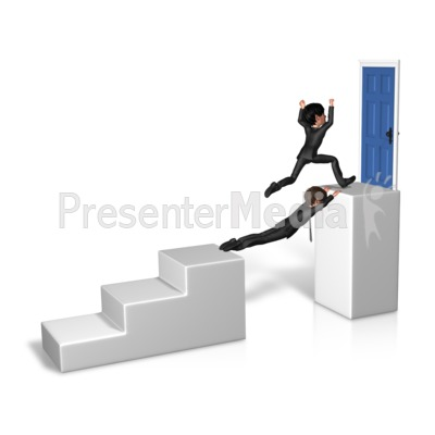 Goal Overcome Obstacle PowerPoint Clip Art