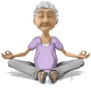ID# 20895 - Bernice Meditate - Presentation Clipart