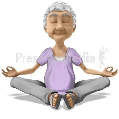 Bernice Meditate PowerPoint Clip Art