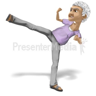 Bernice Karate PowerPoint Clip Art