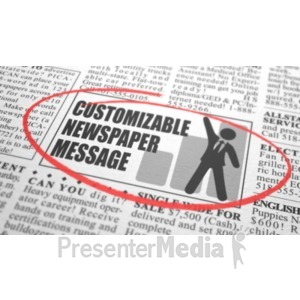 ID# 20909 - Newspaper Classified Custom - Presentation Clipart