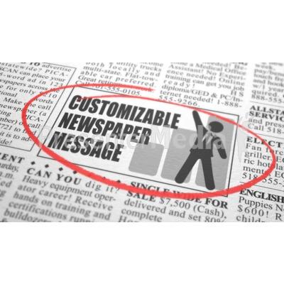 Newspaper Classified Custom Presentation clipart