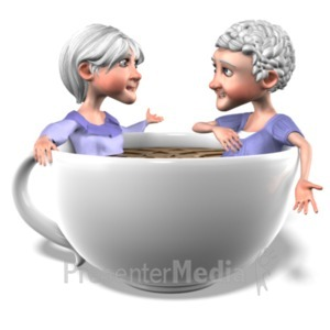 ID# 20914 - Bernice Martha Coffee Conversation - Presentation Clipart