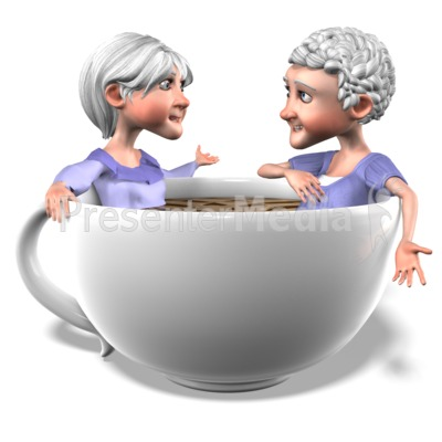 Bernice Martha Coffee Conversation PowerPoint Clip Art
