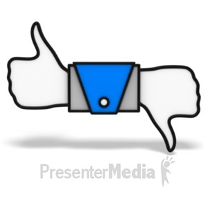 ID# 20917 - Thumbs Up And Down Icon - Presentation Clipart