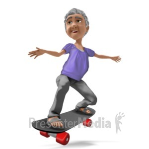 ID# 20918 - Bernice Skateboarding - Presentation Clipart