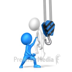 ID# 20922 - Let Someone Of The Hook - Presentation Clipart